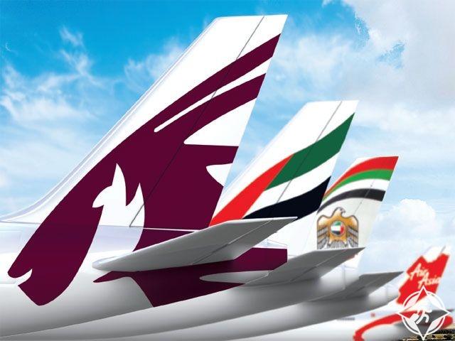 شركات طيران خليجية