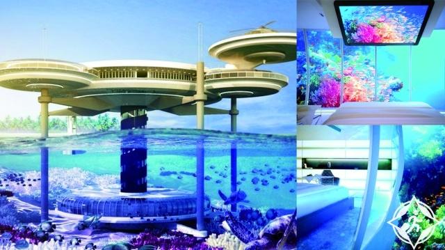 الفندق العائم تحت الماء في دبي