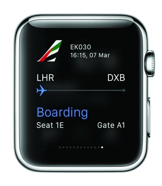 تطبيق طيران الإمارات لساعة أبل