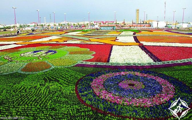 انطلاق فعاليات مهرجان ربيع الرياض و سجادة الزهور مساحتها 16 ألف متر مربع