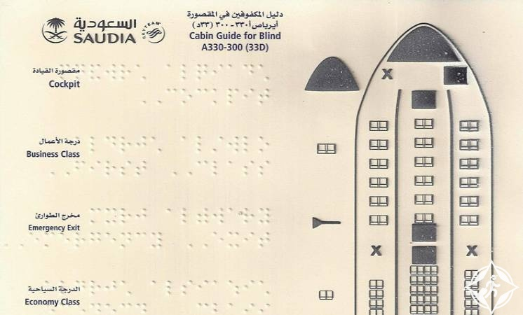 الخطوط السعودية دليل المكفوفين