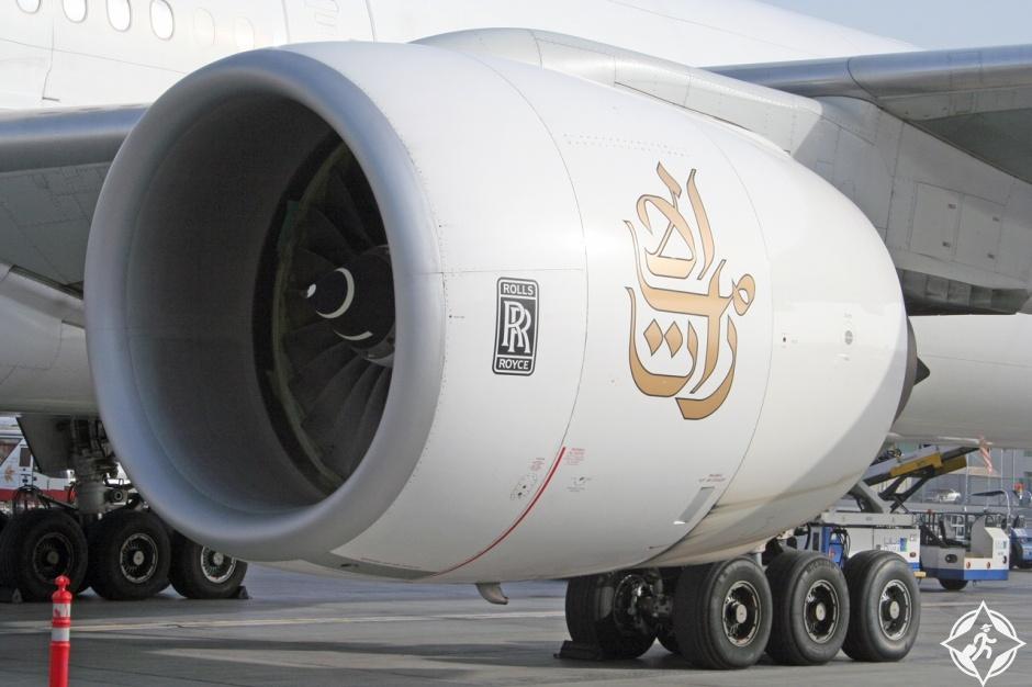 طيران الإمارات محركات رولس رويس