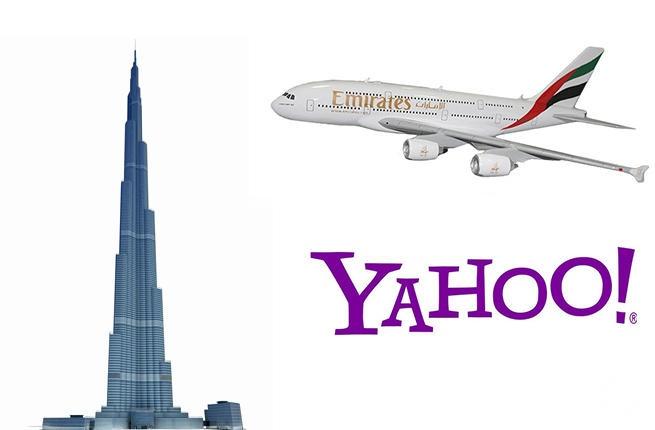 تعاون ثنائي بين طيران الإمارات وياهو لترويج دبي سياحياً