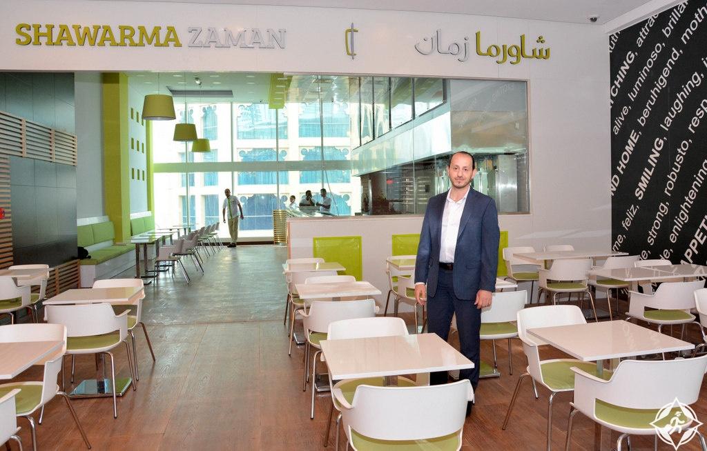 """علاء أبو السعود مدير العمليات في مجموعة """"جلوبال لخدمات التموين"""" شوارما زمان"""