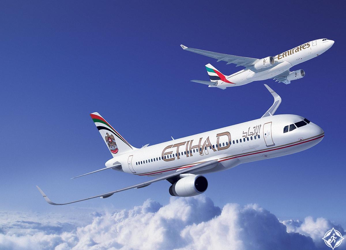 طيران الإمارات والاتحاد