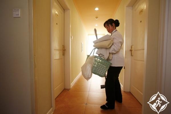 النظافة في الفنادق