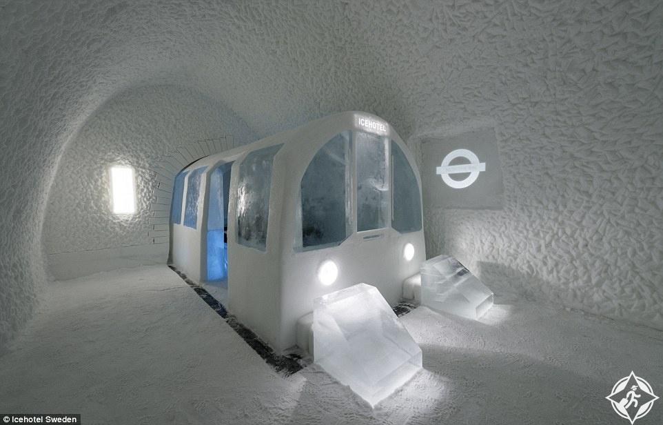 بالصور : أجنحة سحرية جديدة في فندق الجليد السويدي