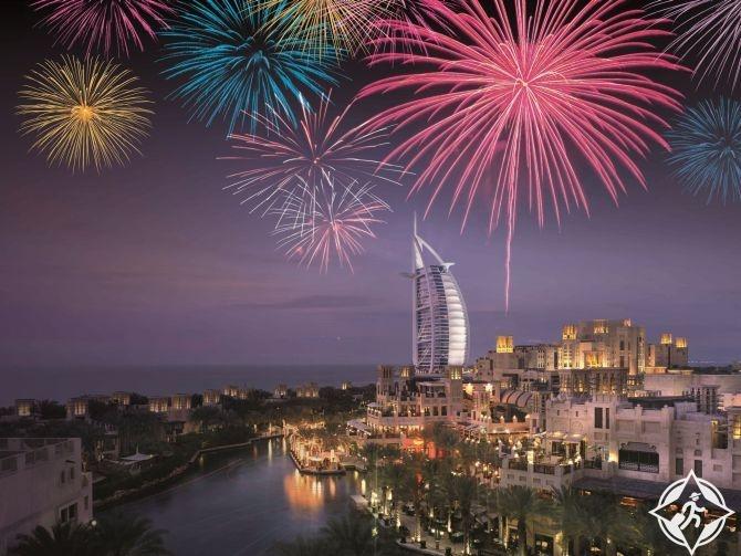 الاحتفال بالعام الجديد في دبي