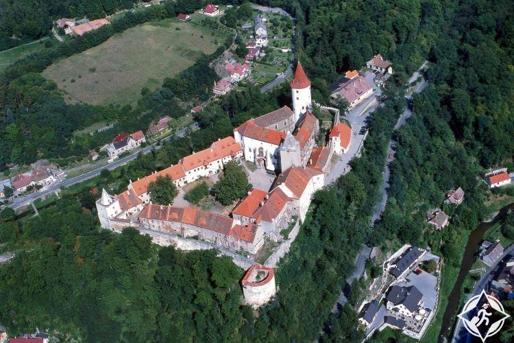 نظرة سماوية على القلعة