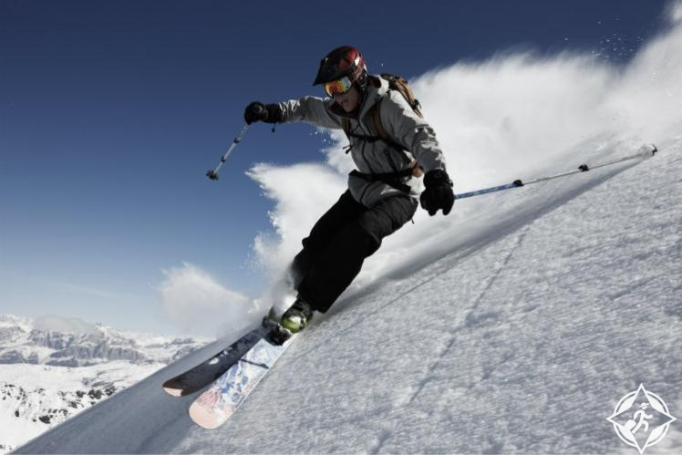 التزلج في الدولوميت