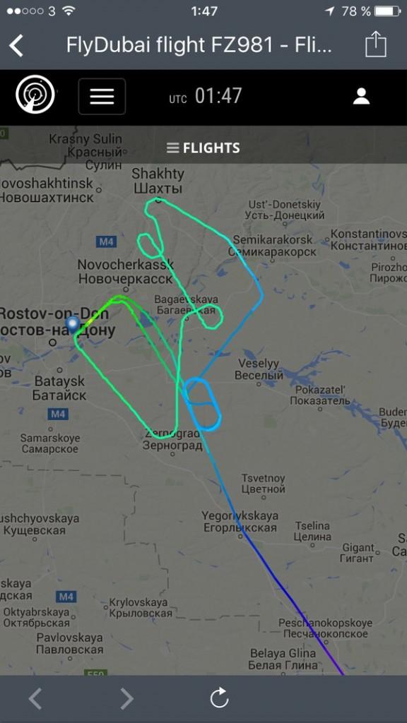 تحطم طائرة فلاي دبي في روسيا بعد محاولتين للهبوط