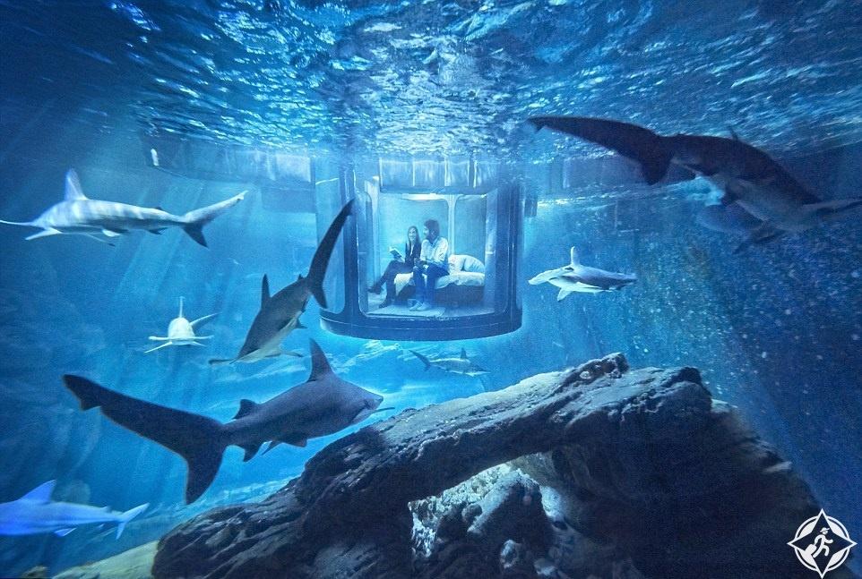 غرفة نوم تحت الماء