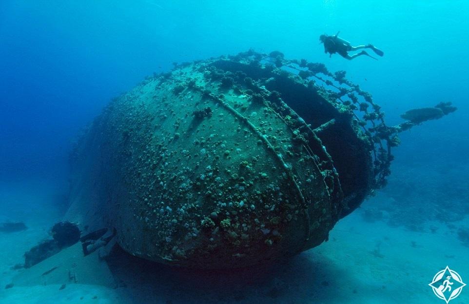 سفينة غارقة في مصر