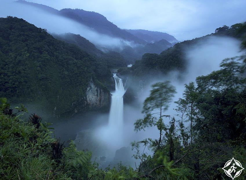 شلالات سان رافاييل ، أوقات السفر الى الإكوادور