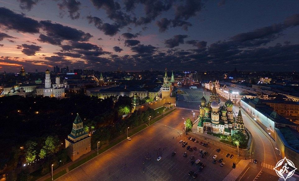 شوارع الكرملين في موسكو