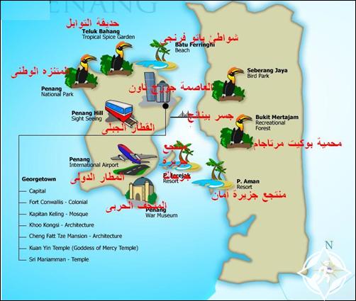 خريطة بينانج ماليزيا