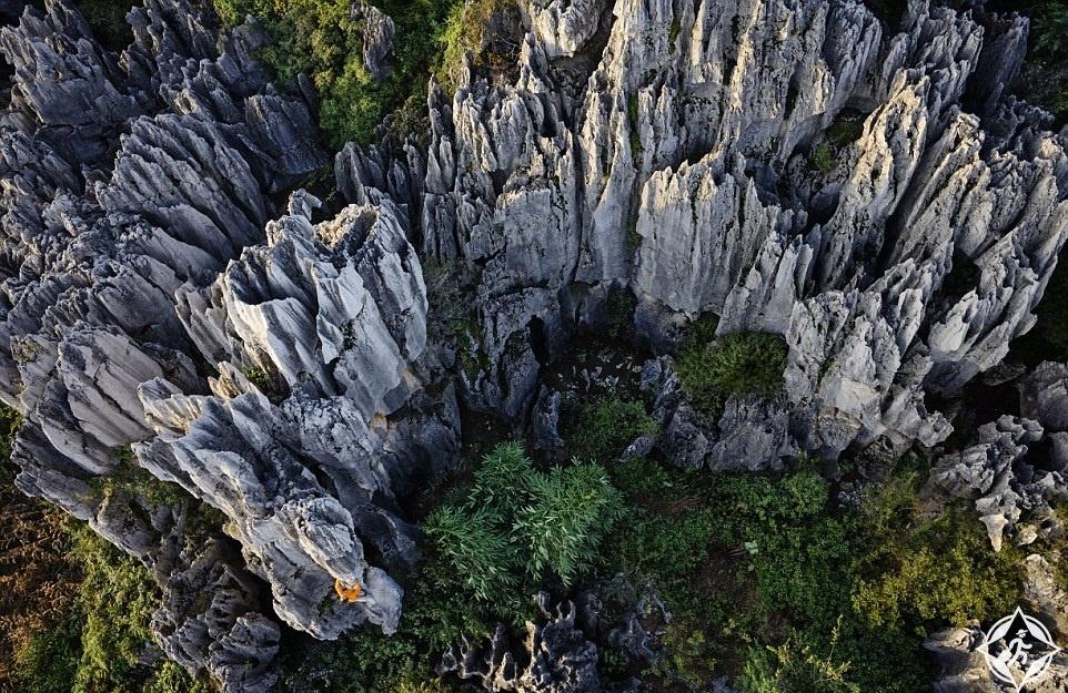 الحجر الجيري في مقاطعة شيلين يي