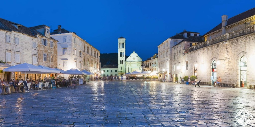 Hvar, Croatia, St Stephens Cathedral in St Stephens Square, Hvar Town, Hvar Island, pictures of Croatia by travel photographer and panoramic photographer Matthew Williams-Ellis