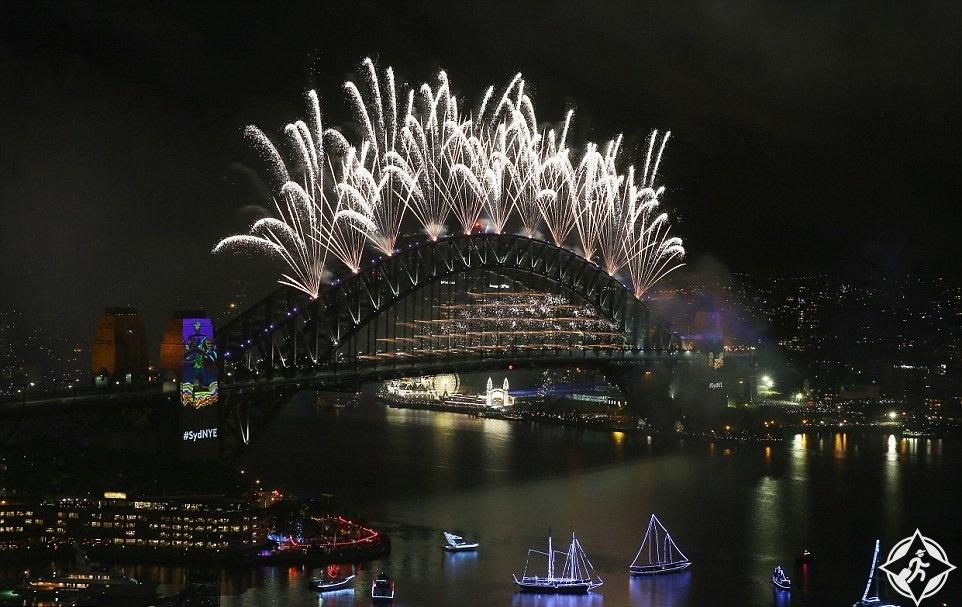 أستراليا-سيدني-احتفالات رأس السنة-العام الجديد