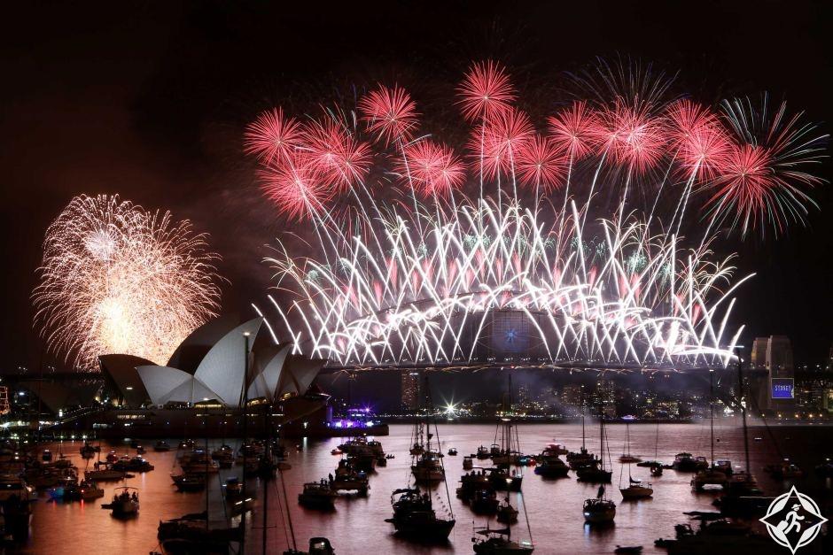 أستراليا-سيدني-ميناء سيدني-رأس السنة 2017