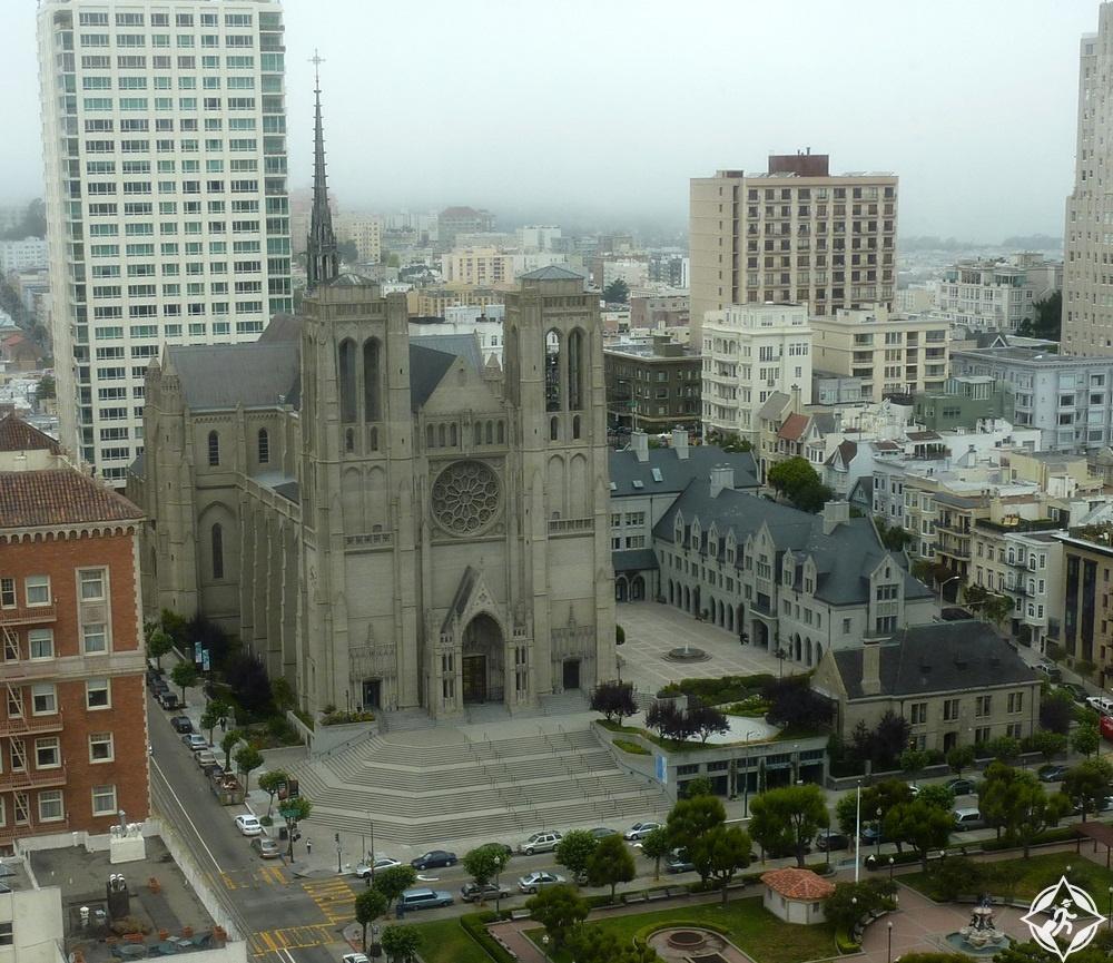أمريكا-سان فرانسيسكو-كاتدرائية غريس-أشهر معالم سان فرانسيسكو