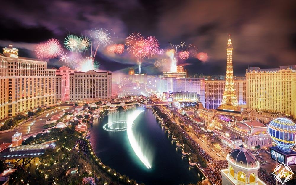 أمريكا-لاس فيغاس-احتفالات رأس السنة-رأس السنة 2017