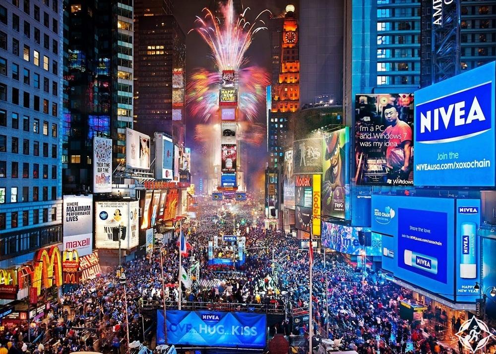 أمريكا-نيويورك-تايمز سكوير-رأس السنة 2017