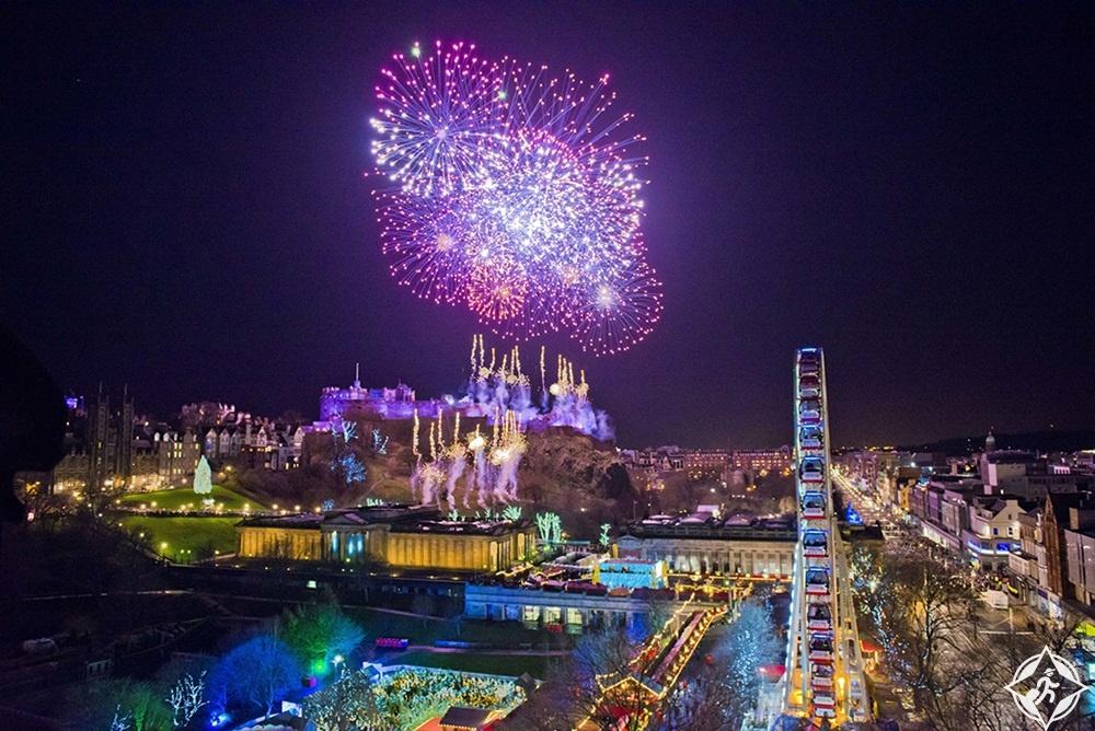 اسكتلندا-أدنبرة-احتفالات رأس السنة-رأس السنة 2017