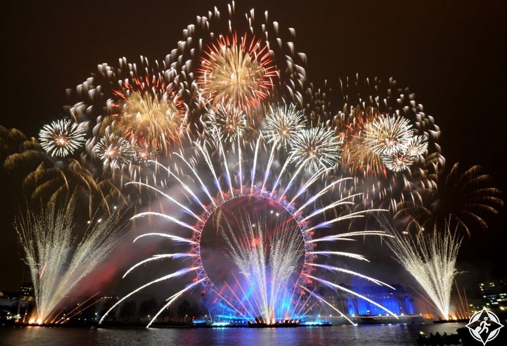 بريطانيا-لندن-عين لندن-رأس السنة 2017