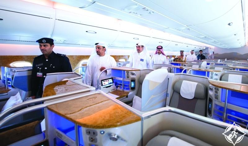 جولة داخل طائرة إيرباص 380-طيران الإمارات