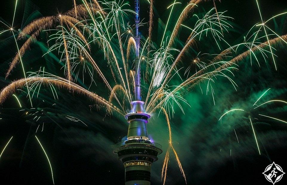نيوزيلاندا-أوكلاند-احتفالات رأس السنة-العام الجديد