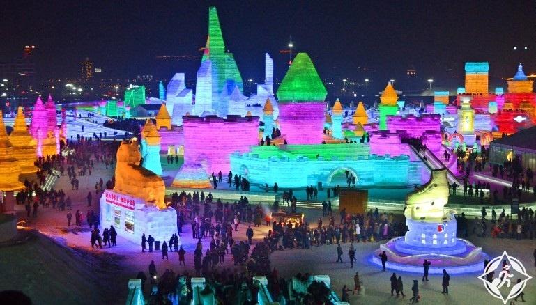 الصين-مقاطعة هيلونغجيانغ-مهرجان هاربين للثلج والجليد-صور الأسبوع