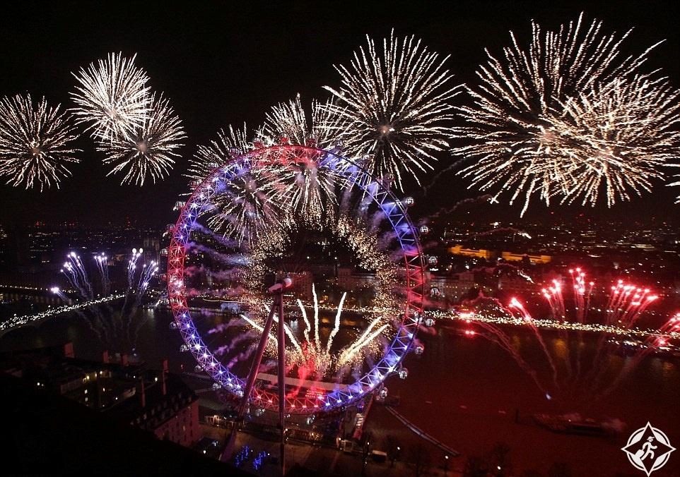 بريطانيا-لندن-احتفالات رأس السنة-العام الجديد 2017