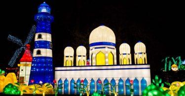 بريطانيا-لندن-حدائق تشيسوك-مهرجان المصابيح السحرية 3