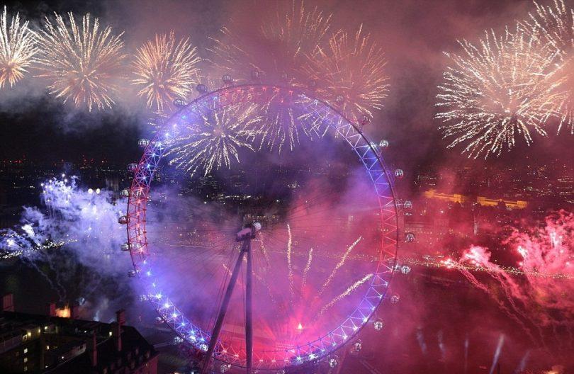 بريطانيا-لندن-عين لندن-العام الجديد 2017