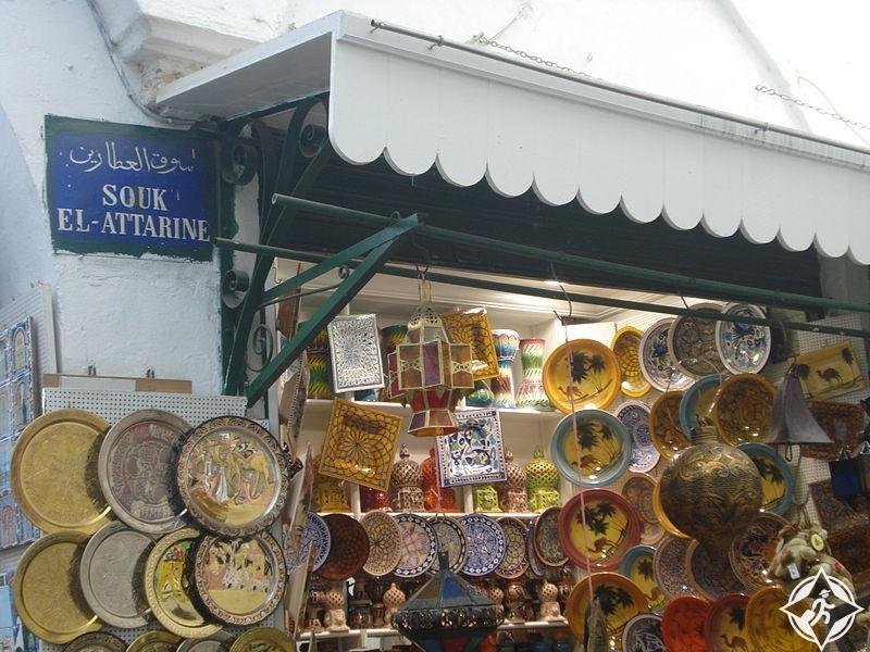 تونس-سوق العطارين-أماكن التسوق في تونس العاصمة