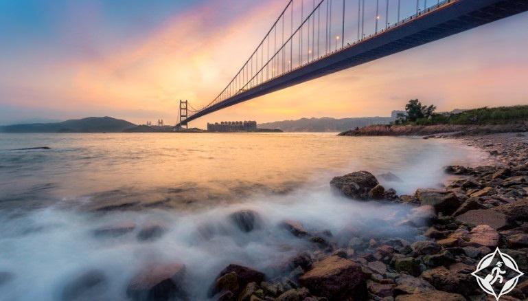 هونج كونج-جسر تسينغ ما-جزيرة تسنغ يي-هونج كونج