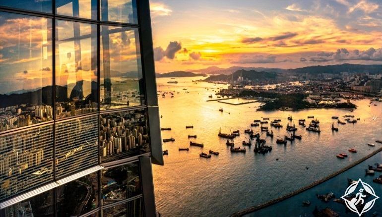 هونج كونج-ميناء فيكتوريا-برج سكاي 100-هونج كونج