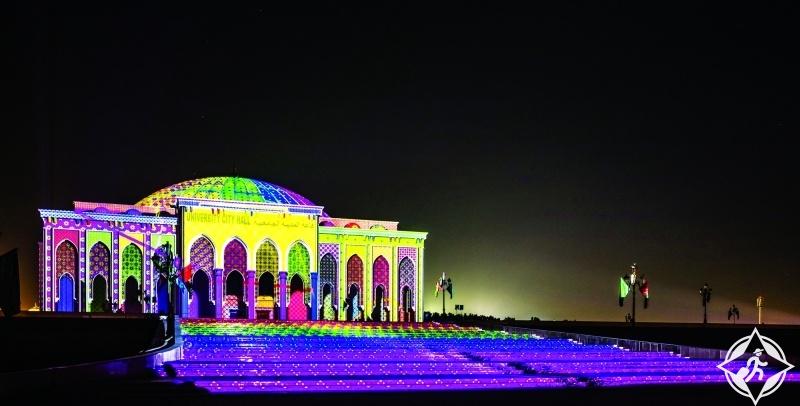 الإمارات-الشارقة-مباني الشارقة-مهرجان أضواء الشارقة