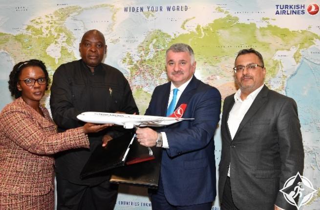 الخطوط الجوية التركية وطيران ناميبيا توقعان اتفاقية مشاركة بالرمز