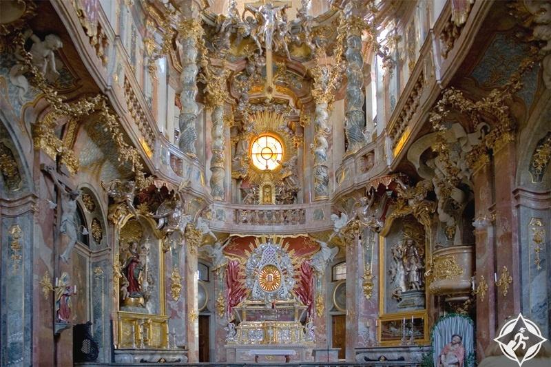 ألمانيا-ميونخ-كنيسة آسام-الأماكن السياحية في ميونخ