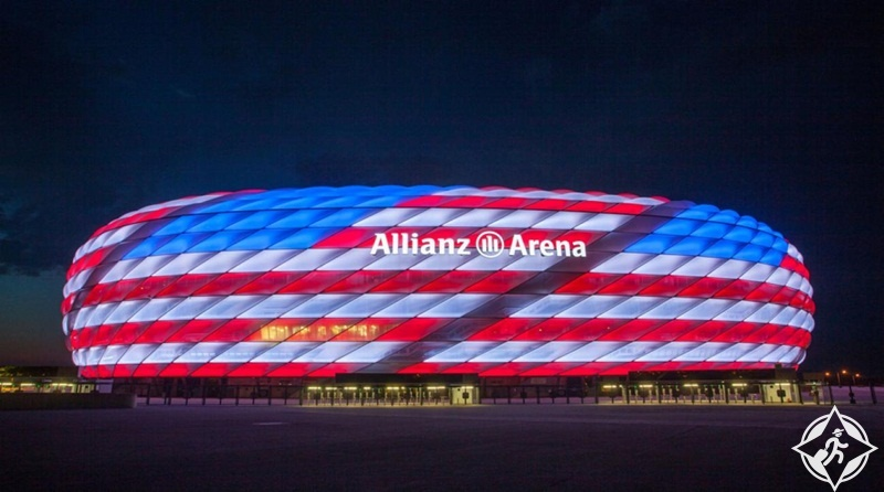ألمانيا-ميونخ-ملعب أليانز أرينا-الأماكن السياحية في ميونخ