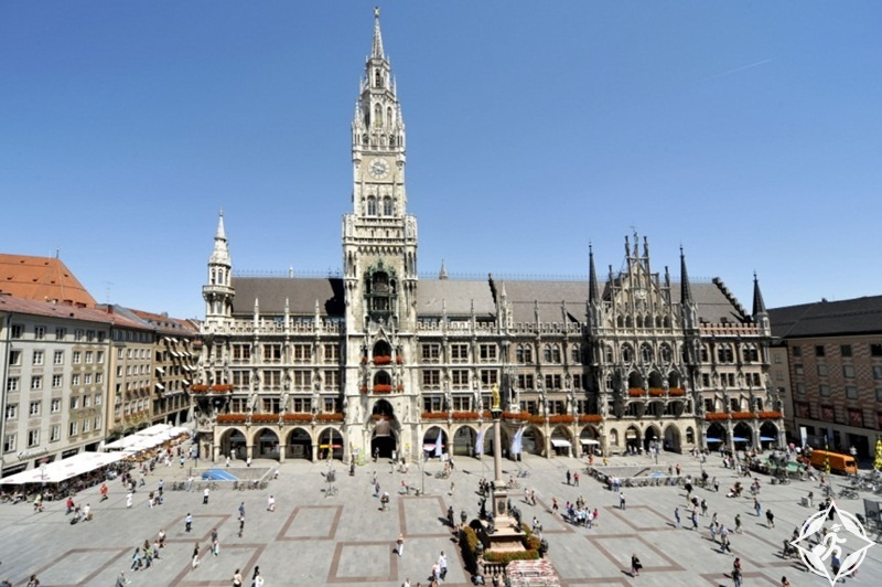 ألمانيا-ميونخ-ميدان مارين بلاتس-الأماكن السياحية في ميونخ