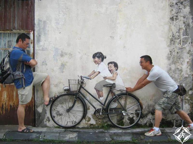 الأماكن السياحية في جورج تاون - شارع بينانغ للفنون