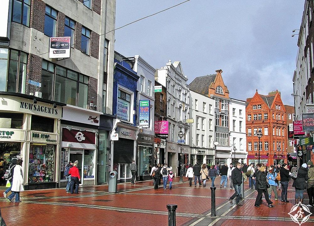 الأماكن السياحية في دبلن - شارع غرافتون