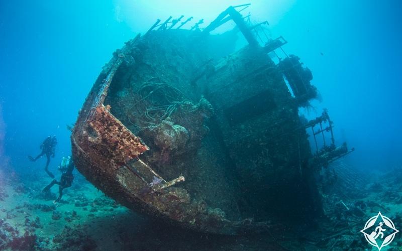 السياحة في الغردقة - حطام السفن الغارقة