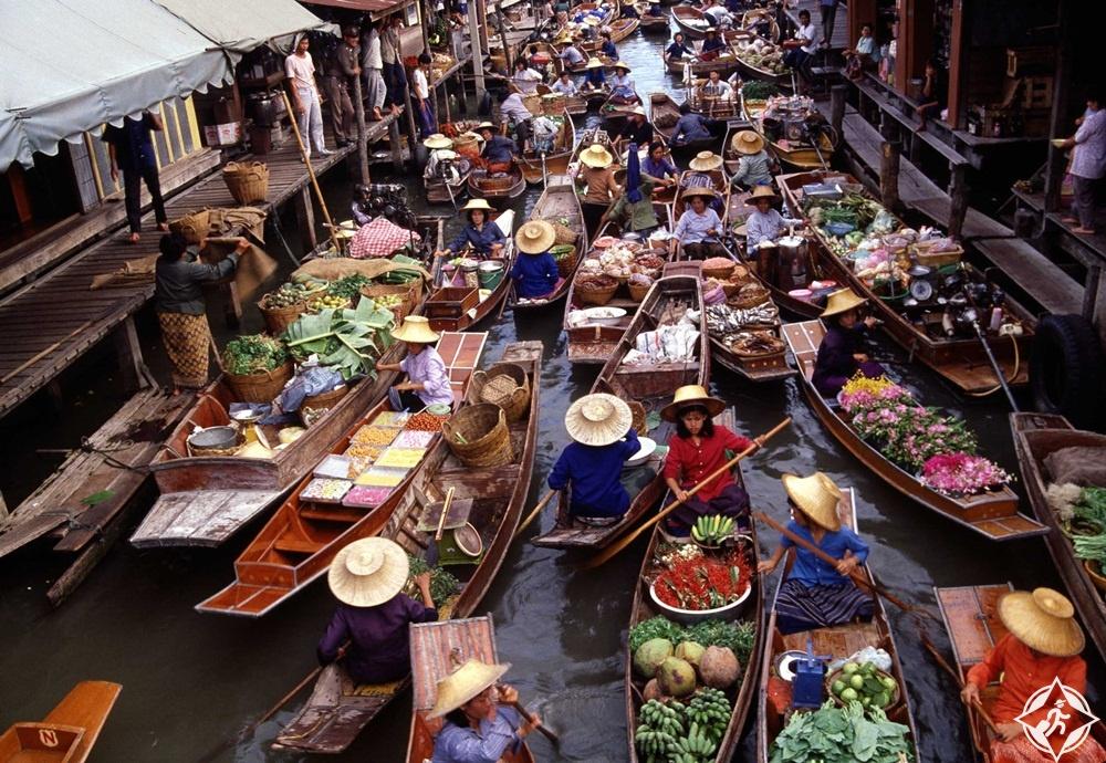 جدول سياحي في بانكوك - سوق دامنون السادواك العائم