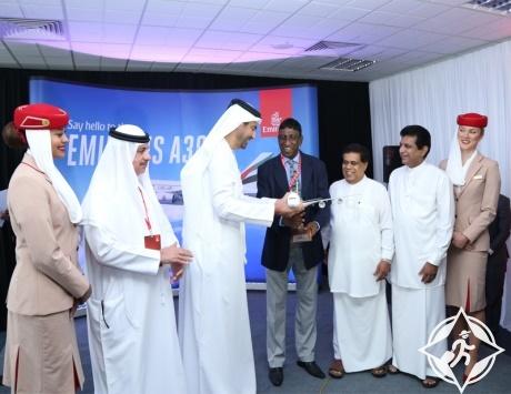 طيران الإمارات تسير الإيرباص 380 إلى مطار باندارانايكا في سريلانكا