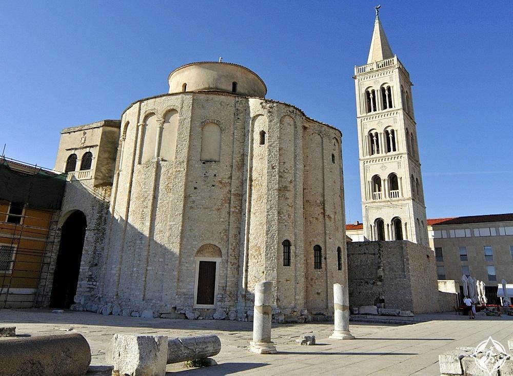 معالم الجذب في كرواتيا - الكنائس الرومانية في زادار