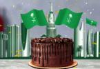 أكبر قالب كيك في العالم بمناسبة اليوم الوطني السعودي